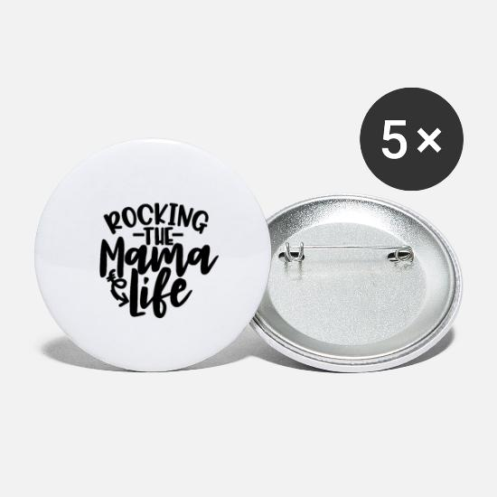 Gift Idea Buttons - Rocking the mum life - Large Buttons white