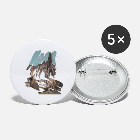Suisse Badges - Montagne, montagne - Grands badges blanc