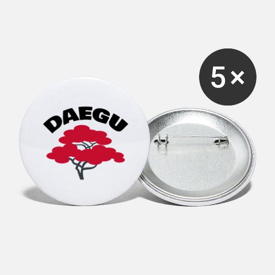 Ville Badges - Daegu 대구 ville coréenne - Grands badges blanc
