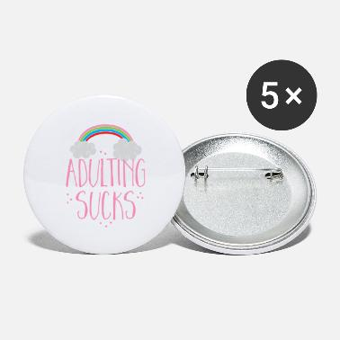 Job Underwear adulting sucks with a rainbow (being an adult) - Large Buttons