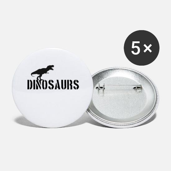 Raptor Buttons - dinosaurus - Buttons groot wit