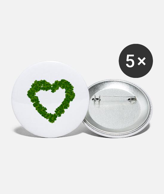 Love Buttons - Heart heart - Large Buttons white