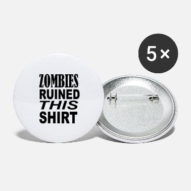 Joke Zombies ruined this shirt - Large Buttons
