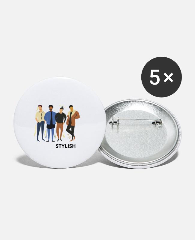 Hipster Buttons - stylish - Large Buttons white