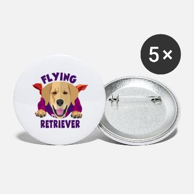 Flying Retriever Golden Retriever - Large Buttons