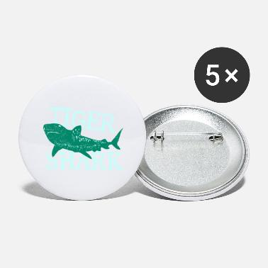 Nytår Fish Tiger Shark Danger Diver Gift - Store buttons