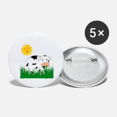 Meadow Cow in the meadow - Large Buttons