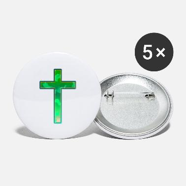 Genezing Cool Alien Cross Christianity Church Jezus Christus - Buttons groot