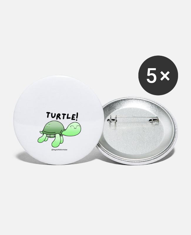 Schildpad Buttons - Schildpad - Buttons groot wit