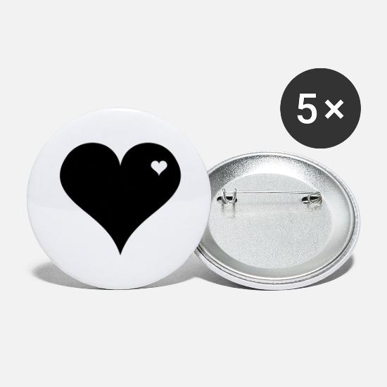 Love Buttons - Heart to Heart - Large Buttons white
