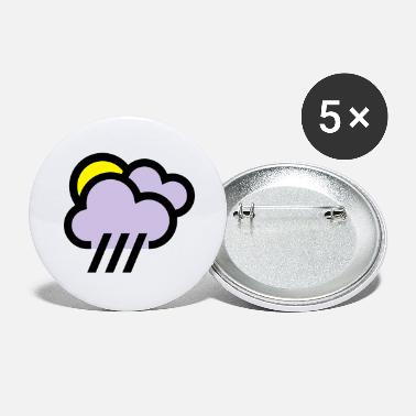 Severe Weather Rainy weather, bad weather, chill icon - Large Buttons
