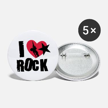 I Love Rock i love rock - Large Buttons