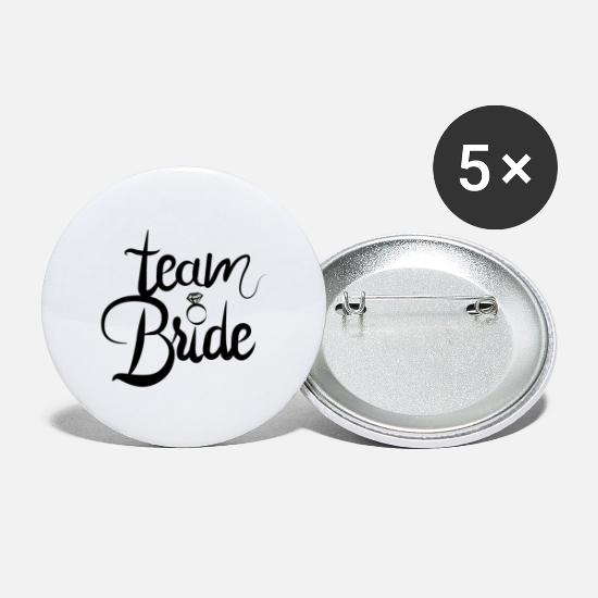 Team Bride Buttons - bride to be - team bride - Buttons groot wit