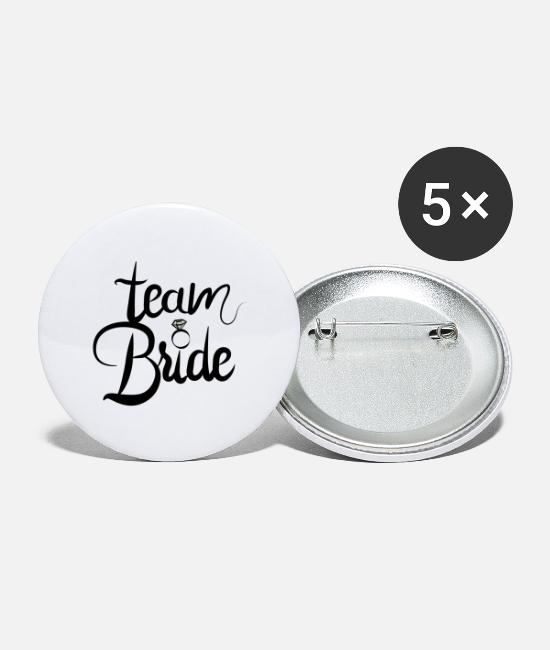 Bruiloft Buttons - bride to be - team bride - Buttons groot wit