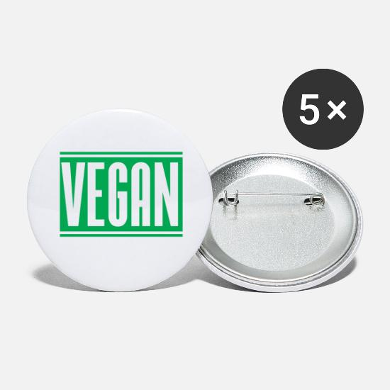 Animal Liberation Buttons - Vegan - Large Buttons white
