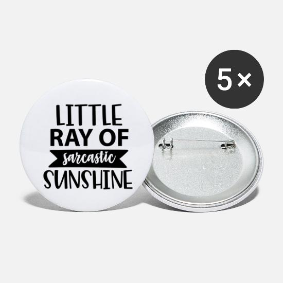 Cool Buttons - little ray of sarcastic sunshine - Large Buttons white