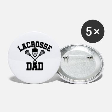 Mens T-Shirt Lacrosse DAD LAX Daddy Shirt Father - Grands badges