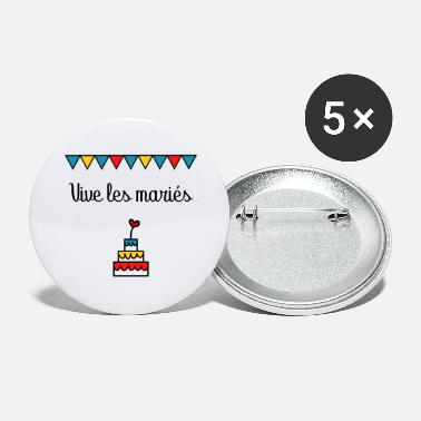 Happiness MARIAGE. VIVE LES MARIES. FIANCIALLES - Grands badges