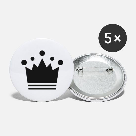 Princesse Badges - couronne - Grands badges blanc