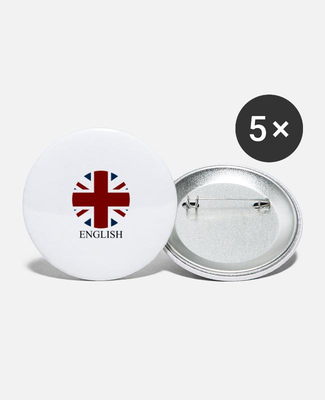 National Buttons - Great Britain flag - Large Buttons white