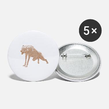 Agressif agressif Loup - Grands badges