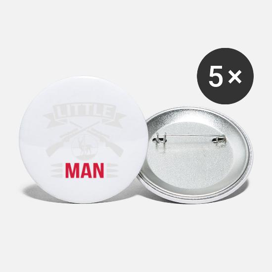 Geweih Buttons & Anstecker - Little Man Hunting - Buttons groß Weiß