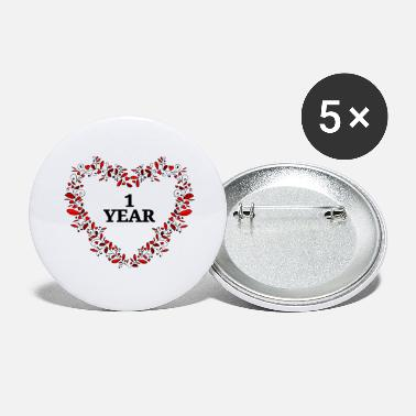 Anniversary 1st anniversary, birthday or anniversary - Large Buttons