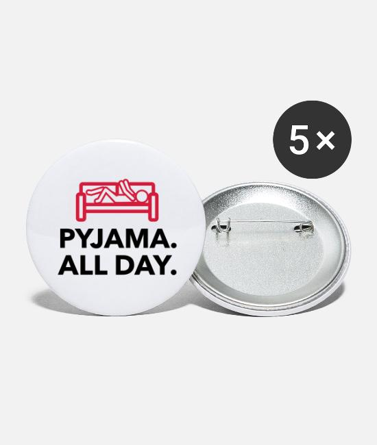 Bed Buttons - Throughout the day in your pajamas! - Large Buttons white