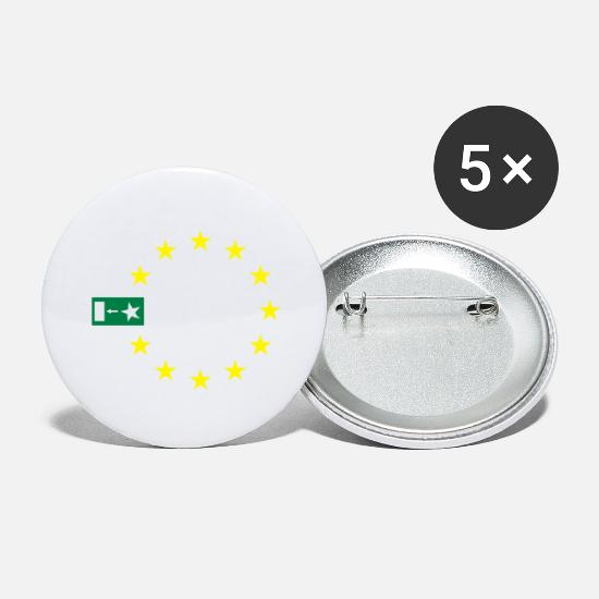 Eu Buttons - Brexit with stars - Large Buttons white