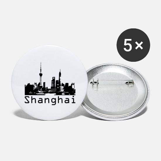 Shanghai Buttons - Shanghai - Large Buttons white
