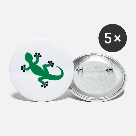 Mountains Buttons - Gecko / Lizard - Large Buttons white