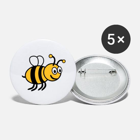 Kind Buttons & Anstecker - Bee Smile - Buttons groß Weiß
