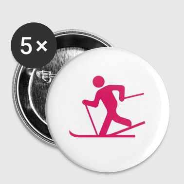 skiing pictogramm - Badge grand 56 mm