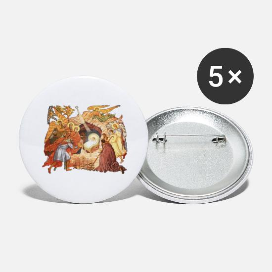 Jesus Buttons - Jesus birth - Large Buttons white