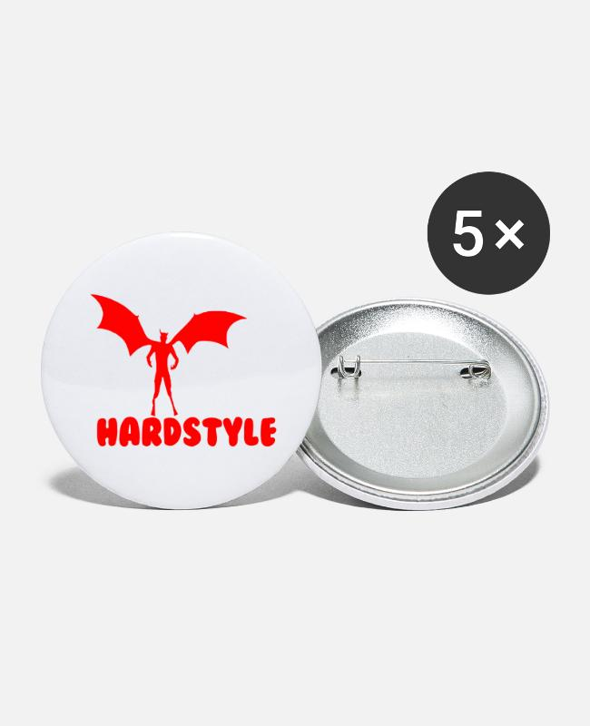 Acid House Buttons - hardstyle - Buttons groot wit