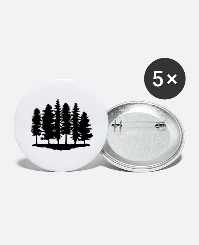 Trekking Buttons - Forest, Trees, Tree - Large Buttons white