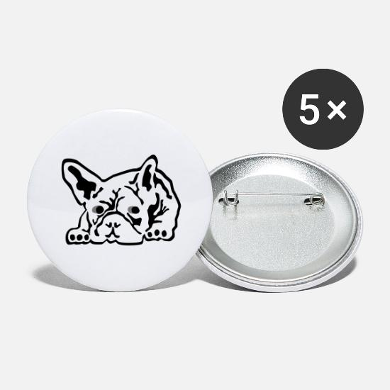 American Buttons - Bulldog - Large Buttons white