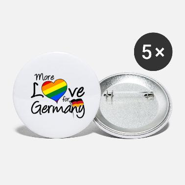 Ehe More Love for Germany homo gay LGBT Geschenk - Buttons groß