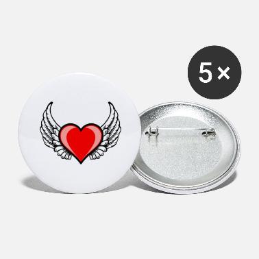 Badges Cœur Avec Des Ailes à Commander En Ligne Spreadshirt