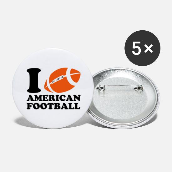 Football Badges - I Love American Football - Grands badges blanc