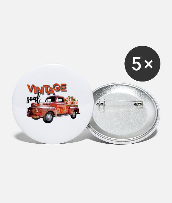 Classic Car Buttons - Vintage Soul - Buttons groot wit