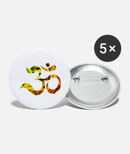 Cannabis Buttons - GANJA GOA - Large Buttons white