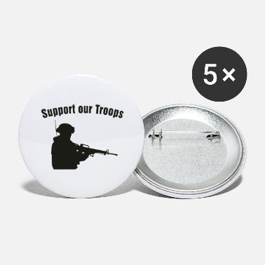 Support Our Troops Support our Troops / soldier - Large Buttons