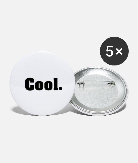 Cool Story Buttons & Anstecker - Cool. Cool - Buttons groß Weiß