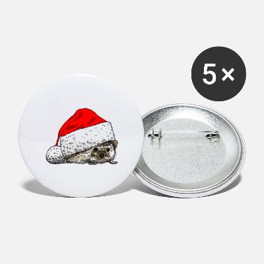 christmas_hedgehog - Large Buttons