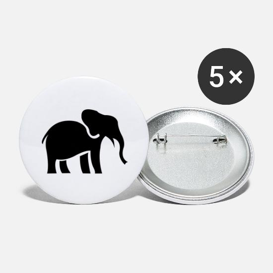Love Buttons - elefant - Large Buttons white