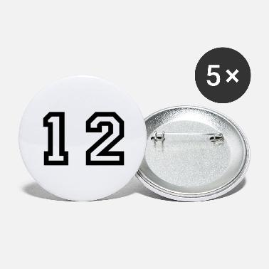 Twelve number - 12 - twelve - Large Buttons