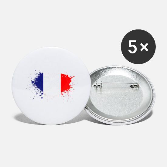 Flag Buttons - peinture drapeau france - Large Buttons white