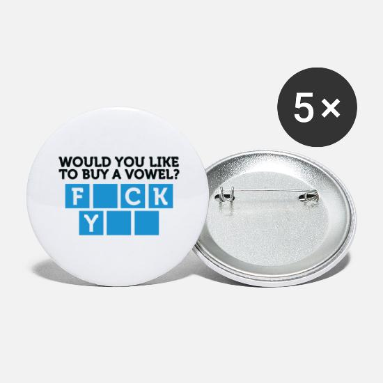 Fuck You Buttons - Would You Like To Buy A Vowel? - Large Buttons white
