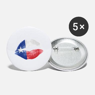 Lone Star Texas Flag Kiss (Texas) - Large Buttons